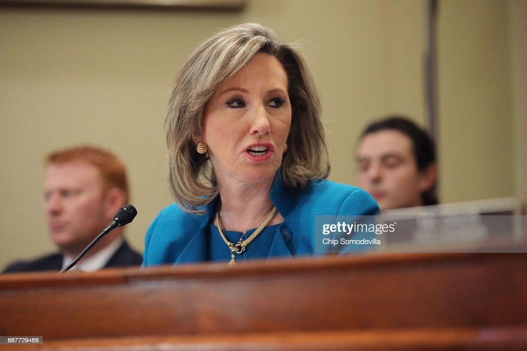 House Administration Committee member Rep. Barbara Comstock (R-VA) delivers opening remarks during a hearing on preventing sexual harassment in Congress in the Longworth House Office Building on Capitol Hill December 7, 2017 in Washington, DC. Committee members and staff tasked with handling sexual harassment cases in Congress agreed that the Congressional Accountability Act of 1995 needs to be revisited and reformed in the wake of recent accusations of harassment and resulting resignations.
