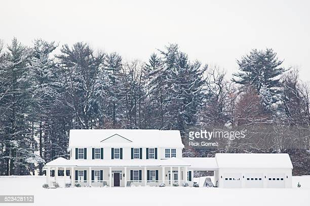 house after a winter snow - after stock photos and pictures