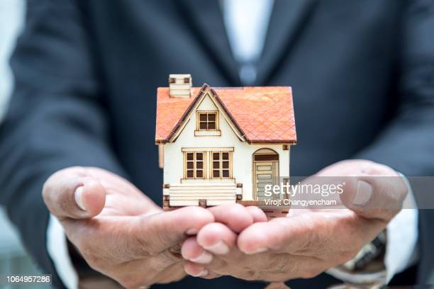 House agency holding and giving new house, Starting a family life
