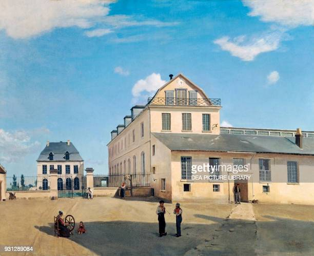House and Factory of Monsieur Henry by Jean Baptiste Camille Corot oil on canvas 814x1003 cm