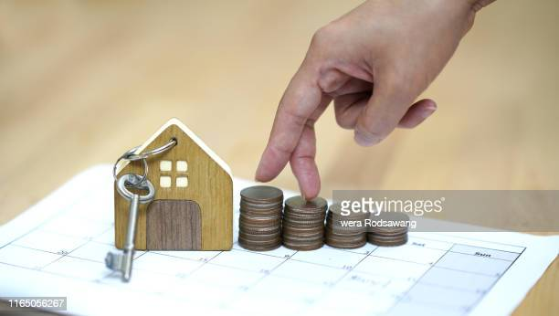 house and money - credit union stock photos and pictures