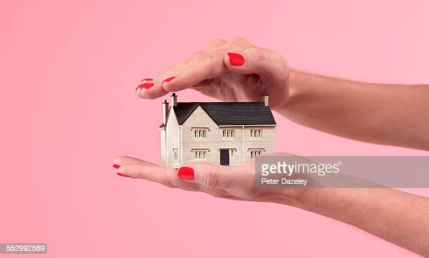 house and mortgage insurance cover - man made object stock pictures, royalty-free photos & images