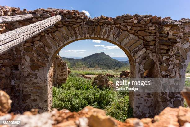 house and mountains - proceso de envejecimiento stock pictures, royalty-free photos & images