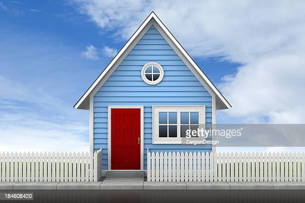 House and picket fence