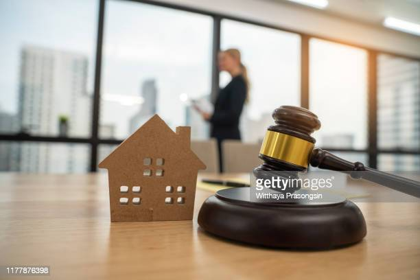 house and scales of justice - auction stock pictures, royalty-free photos & images