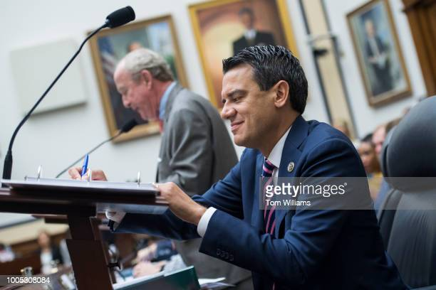 House Appropriations Homeland Security Subcommittee chairman Rep Kevin Yoder RKan right and full committee chairman Rep Rodney Frelinghuysen RNJ are...