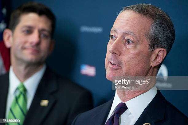 House Armed Services Committee Chairman Mac Thornberry, R-Texas, right, and Speaker Paul D. Ryan, R-Wis., conduct a news conference after a meeting...
