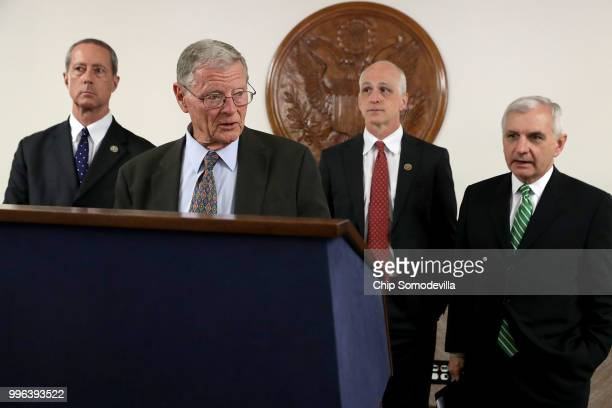 House Armed Services Committee Chairman Mac Thornberry Sen James Inhofe House Armed Services Committee ranking member Rep Adam Smith and Senate Armed...