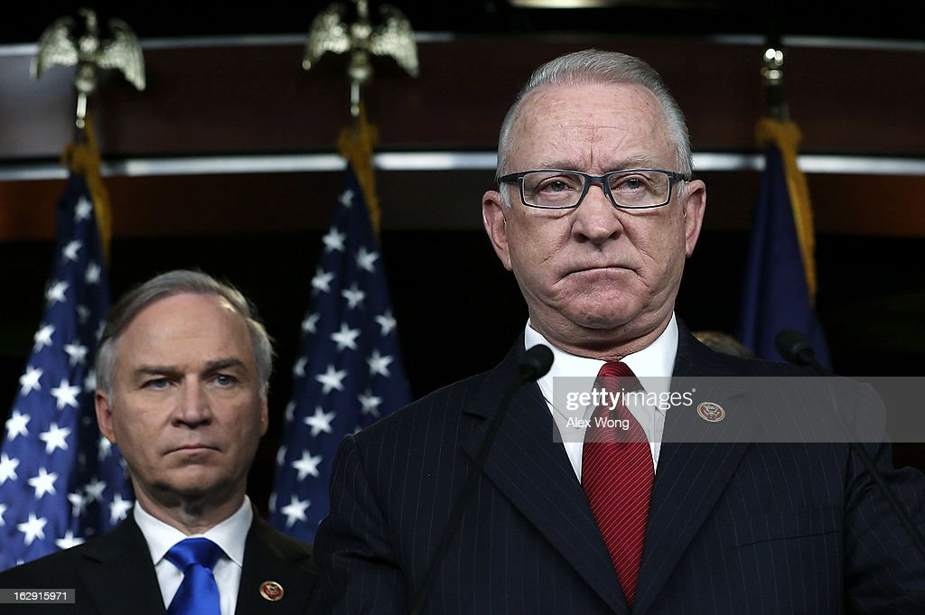 House Republicans Holds News Conference On Nat'l Security Budget Cuts : ニュース写真