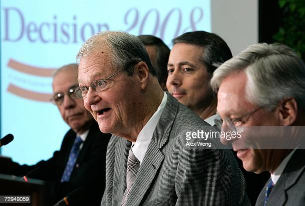 House Armed Services Committee Chairman Rep. Ike Skelton speaks as Rep. Jim Saxton , Rep. Mac Thornberry and Senior Adviser Raymond DuBois of CSIS...