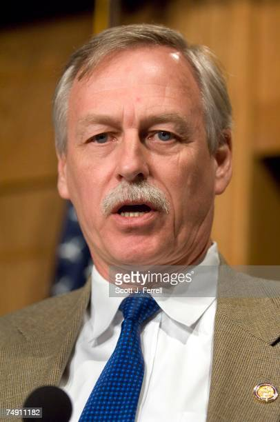 House Armed Services member Vic Snyder DArk during a news conference with other Democratic members of the committee on the debate to occur in the...