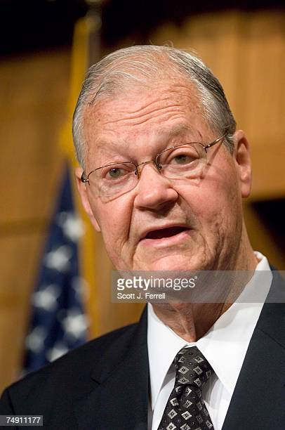 House Armed Services ranking member Ike Skelton DMo during a news conference with other Democratic members of the committee on the debate to occur in...