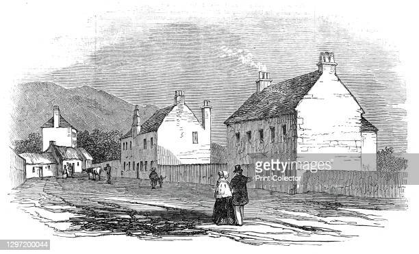 House at Duddingstone, where the Pretender slept on the night before the Battle of Prestonpans, 1845. In 1745, '...a band of about 2400 ill clad,...