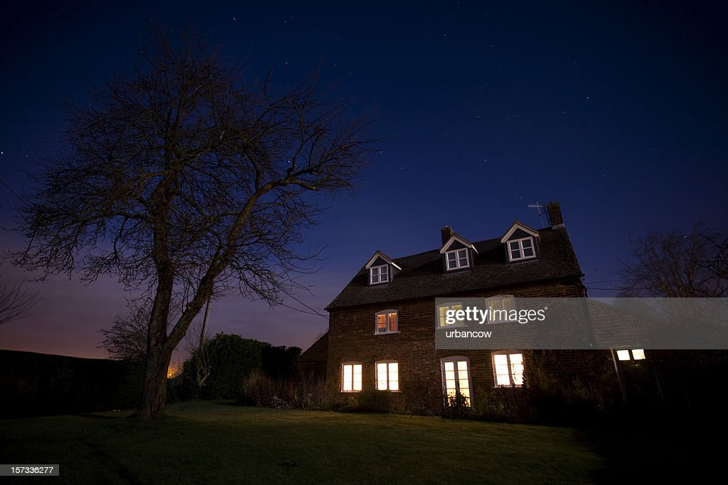 House at night : Stock Photo