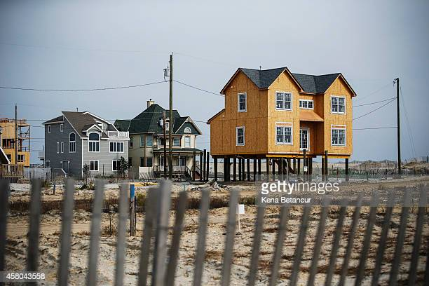 A house being rebuilt stands on Ortley Beach two years after Hurricane Sandy on October 29 2014 in Toms River New Jersey Hurricane Sandy was recorded...