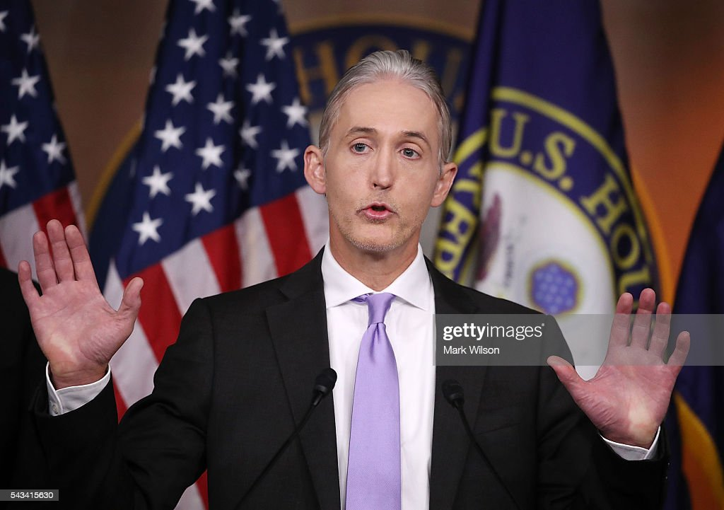 House Republicans Hold News Briefing On Status Of Benghazi Select Committee Findings : News Photo