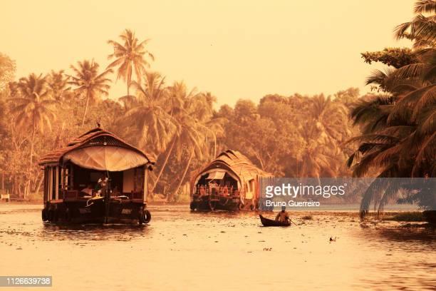 House boat sailing at Kerala backwaters