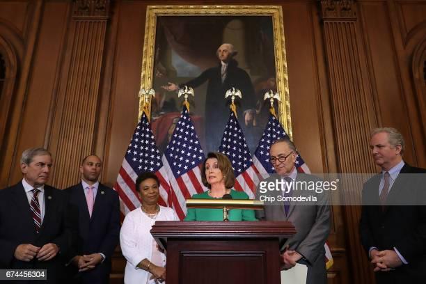 House Budget Committee ranking member John Yarmuth Rep Hakeem Jeffries Rep Barbara Lee House Minority Leader Nancy Pelosi Senate Minority Leadery...