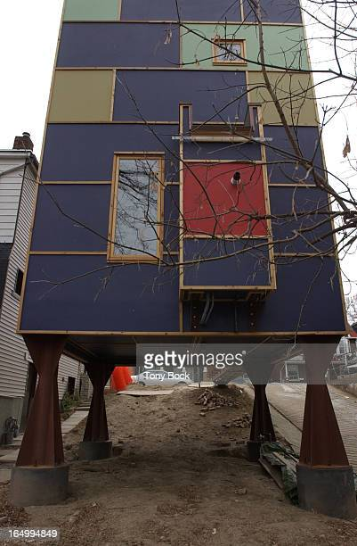 House built by Rohan Walters on Coxwell Avenue. It demonstrates many of his ideas of building an efficient, inexpensive home. Seen from the rear, the...