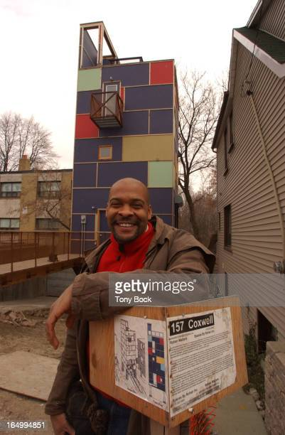 House built by Rohan Walters on Coxwell Avenue. It demonstrates many of his ideas of building an efficient, inexpensive home. TONY BOCK/TORONTO STAR