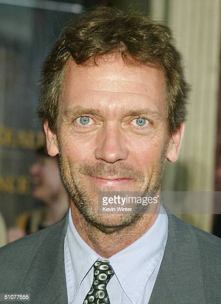 House cast member Hugh Laurie arrives at the 2004 Fox Network TCA Summer Party at Fox Studios on July 16 2004 in Los Angeles California
