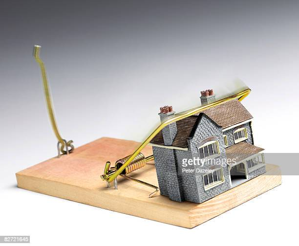 House caught in mouse trap.