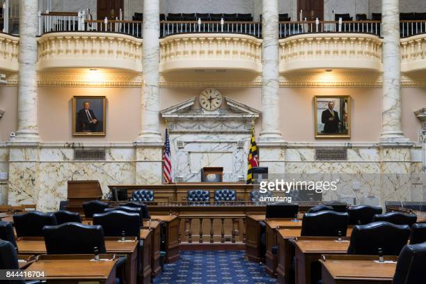 house chamber in maryland state house - maryland us state stock pictures, royalty-free photos & images