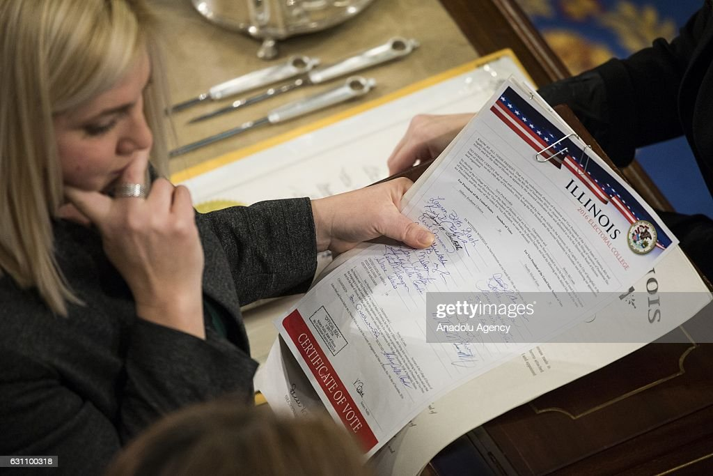 Electoral College Votes Delivered to Congress : News Photo