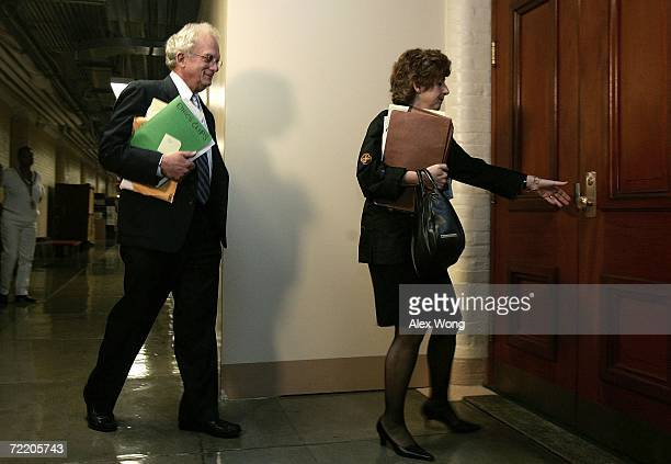House Committee on Standards of Official Conduct ranking member US Rep Howard Berman arrives for a closed hearing on the Foley email scandal October...