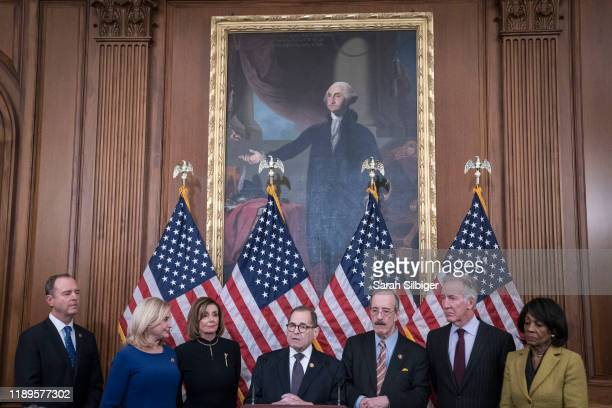 House Committee on the Judiciary Chairman Jerry Nadler delivers remarks alongside Chairman Adam Schiff House Permanent Select Committee on...
