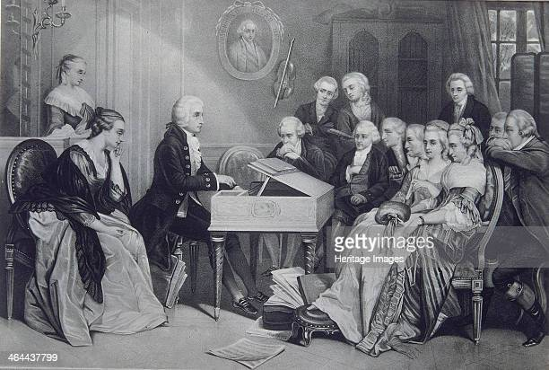 House Concert at the Mozart family in Vienna 19th century Found in the collection of the Russian State Library Moscow