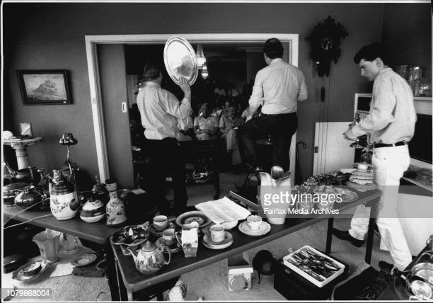 House contents being auctioned at Rose Bay by Lawsons auctioneersAuctioneer Phillip Thomas Graham Addison and Andrew Ferguson December 9 1991