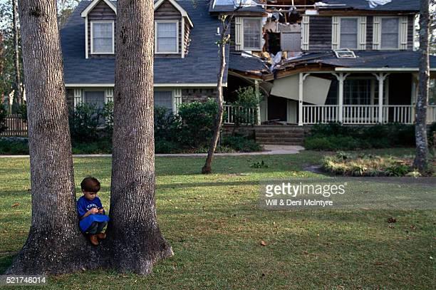 House Damage from Hurricane Hugo