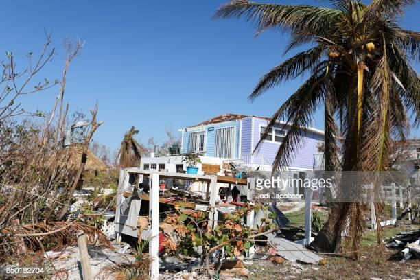 House damaged by Hurricane Irma in Ramrod Key in Florida Keys