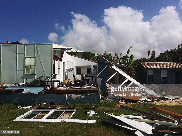House Damaged By Hurricane
