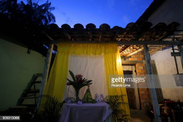 House Decorated For Religious Party