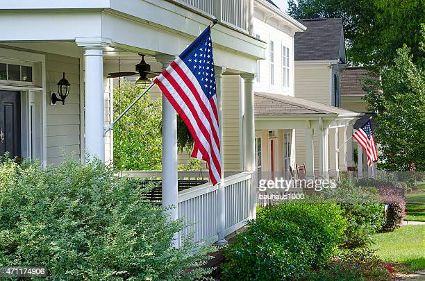House Decorated for the Fourth of July