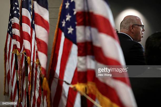 S House Democratic Caucus Vice Chairman Rep Joe Crowley speaks during a news briefing after a caucus meeting June 15 2016 on Capitol Hill in...