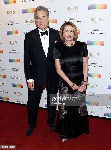 House Democratic Leader Nancy Pelosi and husband Paul Pelosi attend the 38th Annual Kennedy Center Honors Gala at John F Kennedy Center for the...