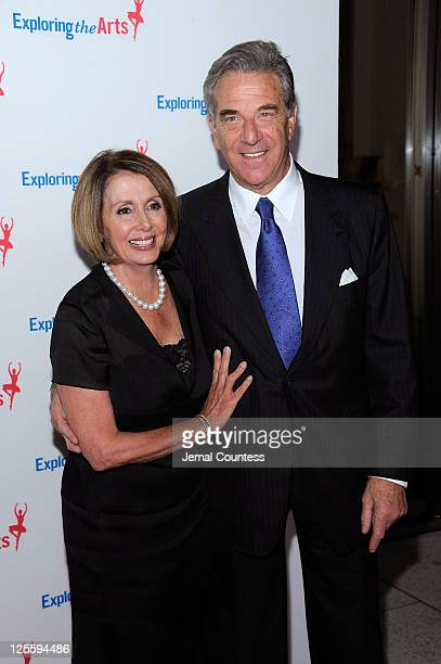 House Democratic leader Nancy Pelosi and Paul Pelosi attend Tony Bennett's 85th Birthday Gala Benefit for Exploring the Arts at The Metropolitan...