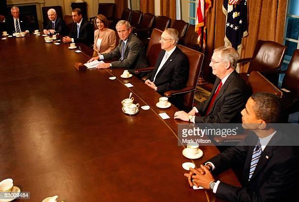 House Democratic Majority Leader Steny Hoyer Republican presidential candidate Sen John McCain House Minority Leader John Boehner House Speaker Nancy...