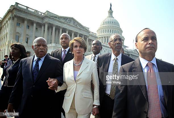 S House Democratic members including Rep Terri Sewell Rep John Lewis Rep Andre Carson House Minority Leader Rep Nancy Pelosi Rep George Meeks Rep...
