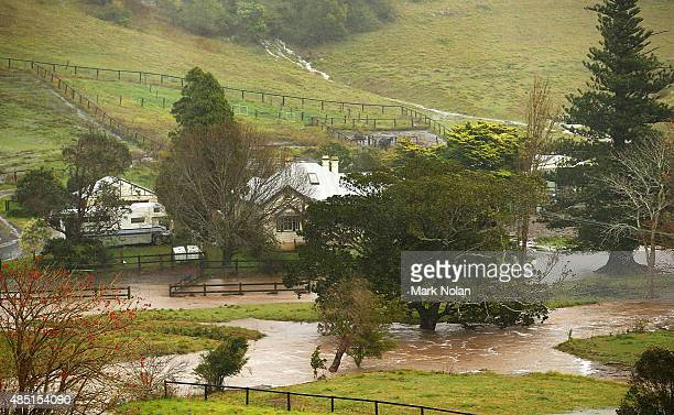 A house downstream of Jerrara dam is cutt off by flood waters down stream of Jerrara dam during flooding effecting the area on August 25 2015 in...