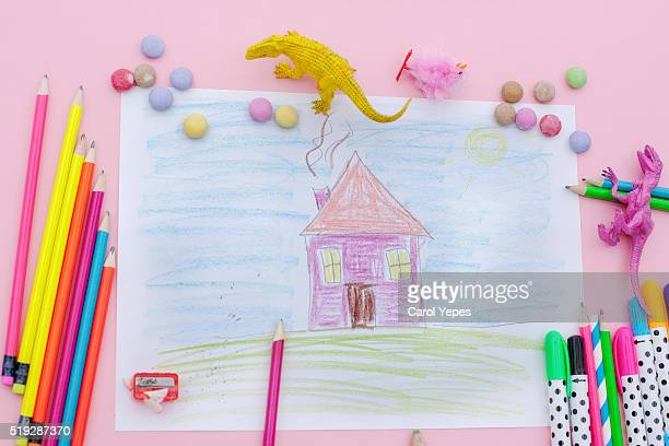 house drawing from a  child