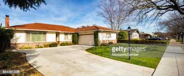 House driveway and sidewalk