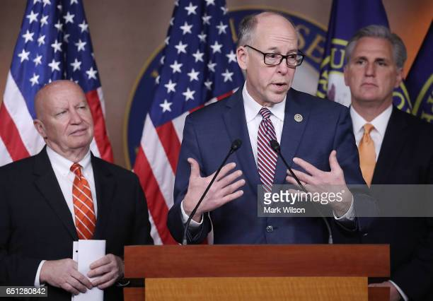 House Energy and Commerce Chairman Greg Walden speaks about the American Health Care Act bill that is being debated on Capitol Hill on March 10 2017...