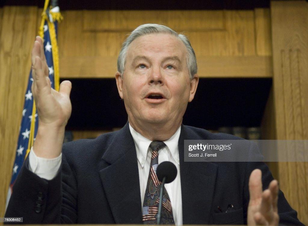 House Energy Ranking Member Joe L. Barton, R Texas, During A News