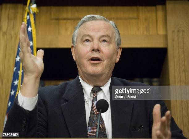 House Energy ranking member Joe L Barton RTexas during a news conference on the energy bill The House brushed aside a new White House veto threat...
