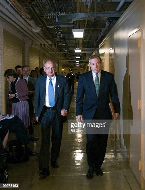 House Ethics Committee chairman Doc Hastings RWash left and Ed Cassidy advisor to the chairman of the committee arrive for the House Ethics Committee...