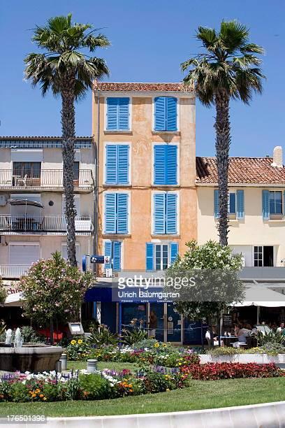 House facade in Bandol on June 22 2013 in Bandol Cote d'Azur France